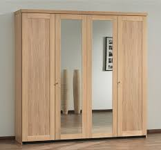 natural brown unfinished wood large wardrobe closets with mirrored