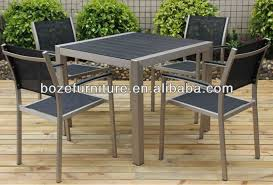 Patio Table Plastic Outdoor Metal Square Table Plastic Wood Square Patio Dining Table