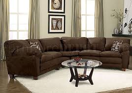 Soft Sectional Sofa Brown Micro Suede Casual Sectional Sofa W Soft Arm Pillows