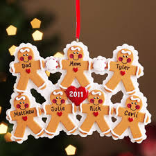 buy personalized gingerbread family ornament 6