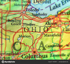Toledo Map Geographic Map Of Us State Ohio And City Columbus And Toledo City