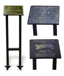 outdoor memorial plaques outdoor metal memorial stand