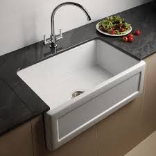 Astini Belfast   Bowl Recessed White Ceramic Kitchen Sink - Ceramic kitchen sinks uk