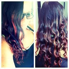 brown with red underneath hair blonde hair with red underneath brown hair with blonde highlights