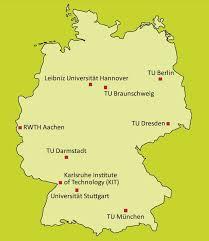 map germnay tu9 de tu 9 exzellenz in ingenieurwissenschaften und