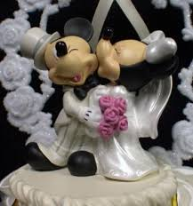 mickey minnie mouse wedding cake topper a can