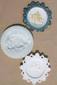 antique easter decorations antique easter milk glass rabbit baby lace edge plates