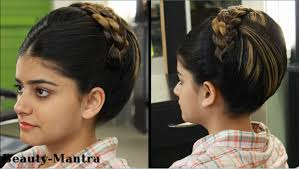 bridal hairstyle latest indian bridal hairstyle jura for medium to long hair youtube