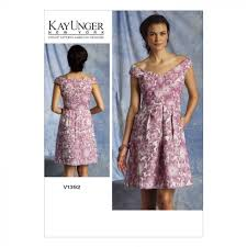 vogue ladies easy sewing pattern 1392 off shoulder dress sewing