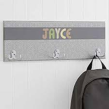 personalized coat rack for boys