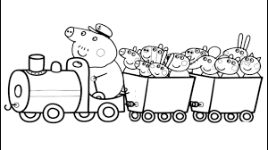peppa pig train coloring book pages fun art colors video kids