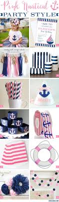 nautical party supplies pink nautical party style chickabug