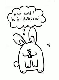 bunny halloween coloring page pink stripey socks