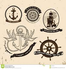 vintage style nautical theme vector stock vector image 52700451