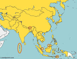 map of countries of asia map of asia quiz map of usa states