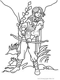 elf color page coloring pages for kids fantasy u0026 medieval