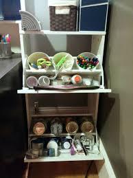 compact craft corner from bissa shoe cabinet ikea hackers ikea