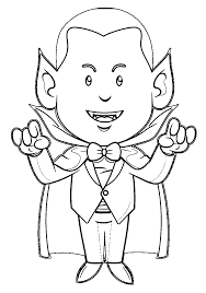 Halloween Monster Coloring Pages by Vampire Coloring Pages Coloring Page