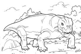 lystrosaurus dinosaur coloring free printable coloring pages