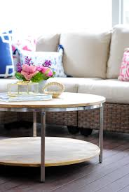 Round Living Room Table by Wood And Chrome Round Coffee Table The Chronicles Of Home