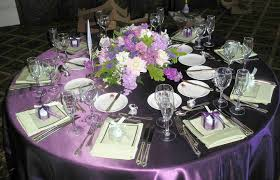 wedding decor purple table settings party themes inspiration