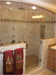 bathroom doorless shower ideas white marble laminate flooring