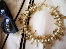 diy punk necklace images Diy pearl safety pin necklace honestly wtf jpg