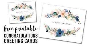 congratulations card printable free printable greeting cards