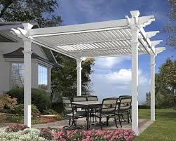 new england avalon louvered pergola white 10 x 10
