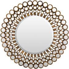 surya nectar brown mirror round mirrors mantels decor and