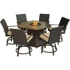 Patio Fire Pit Table Fire Pit Sets Outdoor Lounge Furniture The Home Depot