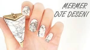 mermer görünümlü oje deseni nasıl yapılır stone marble nail art