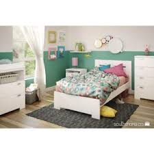 South Shore Twin Platform Bed South Shore Step One Twin Size Platform Bed In Pure White 3050205