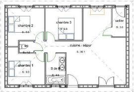 plan maison 3 chambre plan maison plain pied 6 chambres 1 pavillon de plain pied en