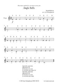jingle bells very easy piano sheet music by christmas piano