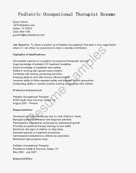 Occupational Therapy Resume Examples by Occupational Therapy Resume Examples Resume Templates