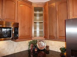 Kitchen Cabinets Tall Kitchen Wooden Tall Kitchen Cabinet With Travertine Backsplash