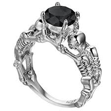 cool jewelry rings images Fendina unique simulated diamond skull engagement jpg