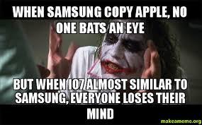 when samsung copy apple no one bats an eye but when io7 almost
