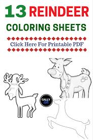 free printable reindeer activities free pdf 13 christmas reindeer coloring pages face antlers cute