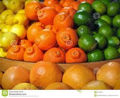 fruit displays citrus fruit display with oranges lemons limes stock photo