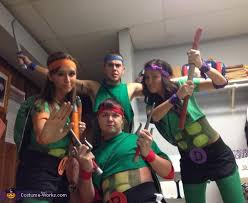 Ninja Turtle Halloween Costume Girls Ninja Turtles Group Halloween Costume