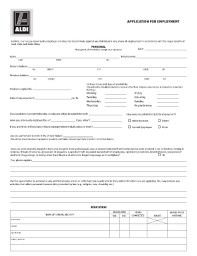 2014 2017 form aldi application for employment fill online