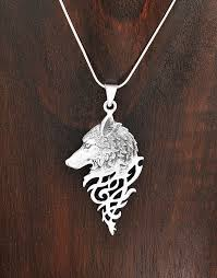 silver wolf necklace images Sterling silver mystical celtic spirit wolf pendant taxco mexico jpg