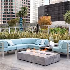 brown jordan fires flo fire pit coffee table natural gray
