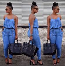 jean rompers and jumpsuits blue jean jumpsuits vsw fashion