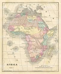 Africa Middle East Map by Old Map Of Africa 1856 Stock Vector Art 580131450 Istock