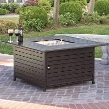 Patio Table With Firepit Best Choice Products Extruded Aluminum Gas Outdoor Pit Table