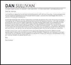 hr administrator cover letter sample livecareer