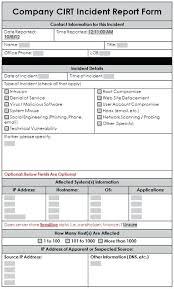 a sample report sample incident report form u2013 hamama me